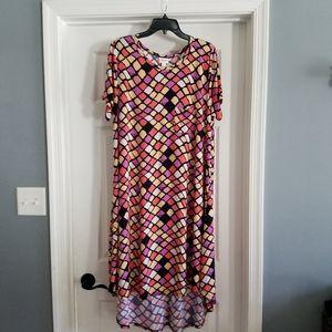 Lularoe Dress Sz XL Carly Diamond